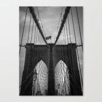 brooklyn bridge Canvas Prints featuring Brooklyn Bridge by Nicklas Gustafsson