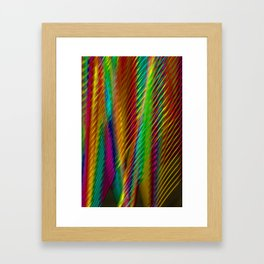 Feathers in Abstract Framed Art Print