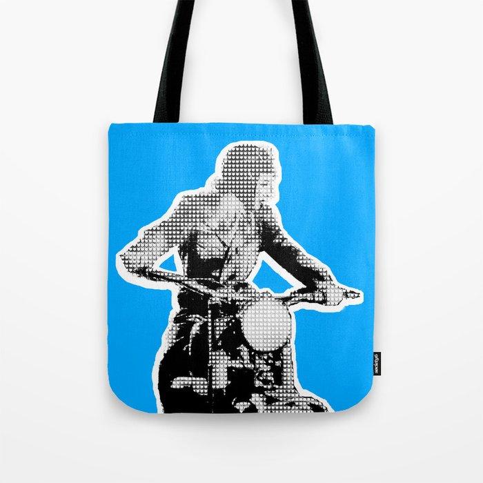 Blue Riding Lady Tote Bag