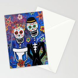 Mexican Folk Art Wedding Painting Stationery Cards