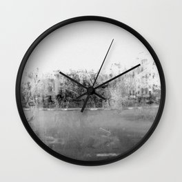 A través del cristal (black and white version) Wall Clock
