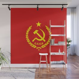 CCCP Communist Hammer & Sickle Wall Mural