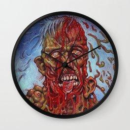 Zombie - Melting and Rotting Wall Clock