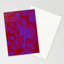 blue on red Stationery Cards