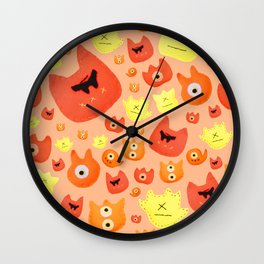 Monster faces Wall Clock