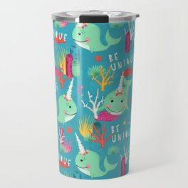 Narwhal Be Unique Pattern Travel Mug