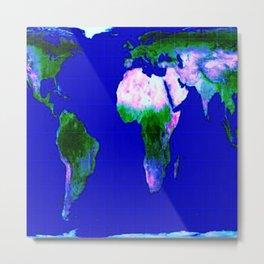 World Map : Gall Peters Metal Print