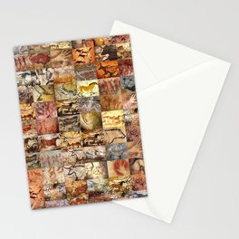 Cave Paintings Montage Stationery Cards