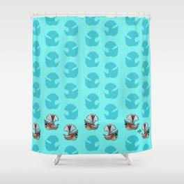 Fantail - Aqua Shower Curtain