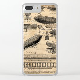 Vintage Hot Air Balloon Study Clear iPhone Case