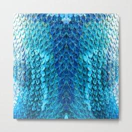 Snake Skin - Blue 3 Metal Print