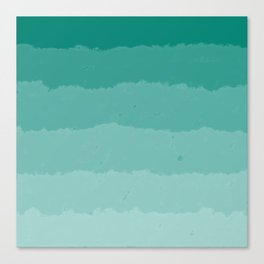 Teal Clouds Layers Canvas Print