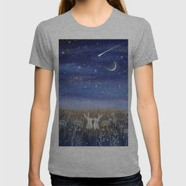 Hares and the Crescent Moon T-shirt