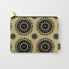 Black and Olive print Carry-All Pouch