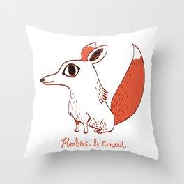 Herbert le renard Throw Pillow