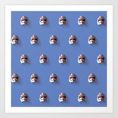 Phasma Flat Design Mosaic Art Print