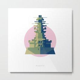Battleship Nagato Metal Print