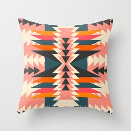 Colorful ethnic decoration Throw Pillow