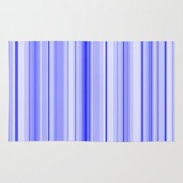 Blue Vertical Stripe Rug