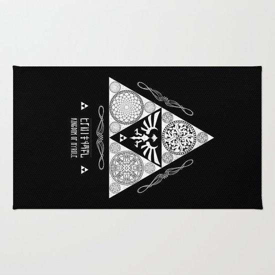 Legend of Zelda Kingdom of Hyrule Crest Letterpress Vector Art Rug