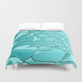 Shattered Teal Duvet Cover