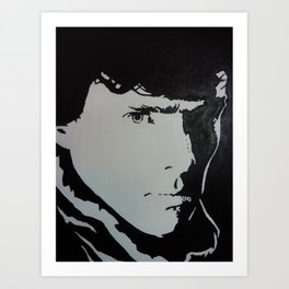 Benedict Cumberbatch Sherlock Pop Art Black and White Art Print