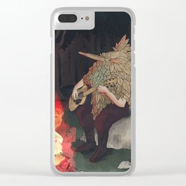 Musical Forest Spirit Clear iPhone Case