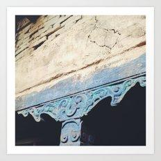 Turquoise Pillar Art Print