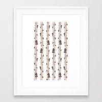 bears Framed Art Prints featuring Bears. by Elena O'Neill