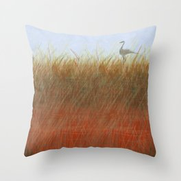 Autumn Marsh Throw Pillow