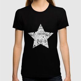 Black and White Christmas Typography Design T-shirt