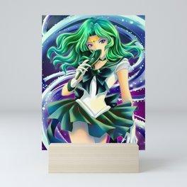 Sailor Neptune Deep Aqua Mirror Mini Art Print