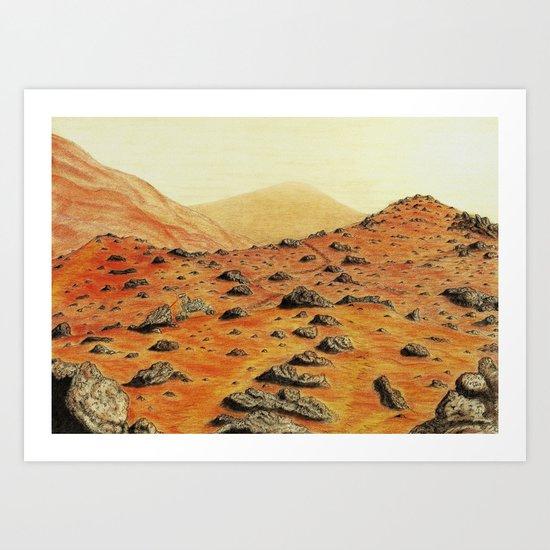 A Curious Rover Art Print