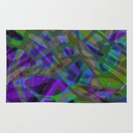 Colorful Abstract Stained Glass G301 Rug