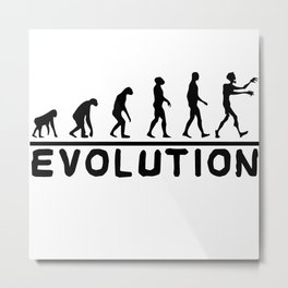 Zombie evolution Metal Print