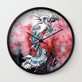 Mermaid Riot Wall Clock