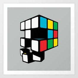 Rubix Skull Art Print
