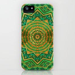 Jade Mandala iPhone Case