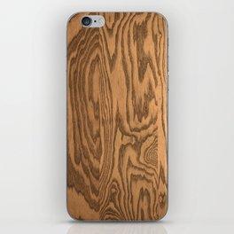 Wood 5, heavily grained wood Horizontal grain iPhone Skin