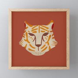 Go Get 'Em Tiger  Framed Mini Art Print