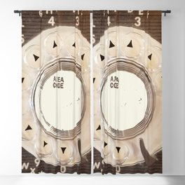 Rotary Phone Dial, Vintage Phone Blackout Curtain