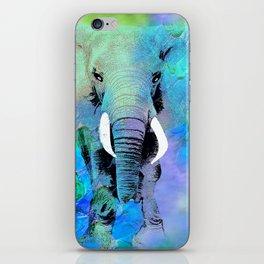 ELEPHANT BLUE iPhone Skin