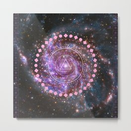 Galaxy and Geometry Metal Print