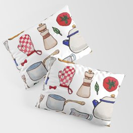 Watercolor Kitchen Utensils Pillow Sham
