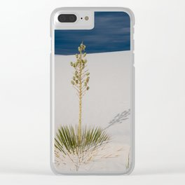 Soaptree Yucca plant in the desert of White Sands National Monument in New Mexico Clear iPhone Case