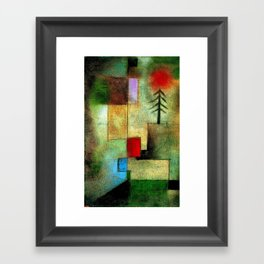 """Little Painting of Fir-Trees"" by Paul Klee (1922) Framed Art Print"