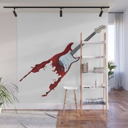 Electric guitar red music rock n roll sound beat band gift idea Wall Mural