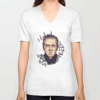 christopher walken V-neck T-shirts featuring Christopher Walken by Ella Betts