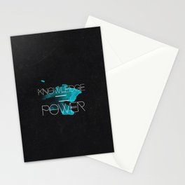 Knowledge Equals Power Stationery Cards