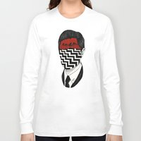twin peaks Long Sleeve T-shirts featuring Twin Peaks by Black Neon